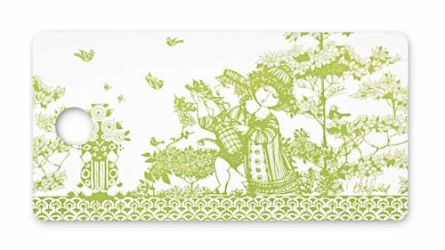 Smørbrødsbakke, Rosegarden, grøn, 20x40 cm