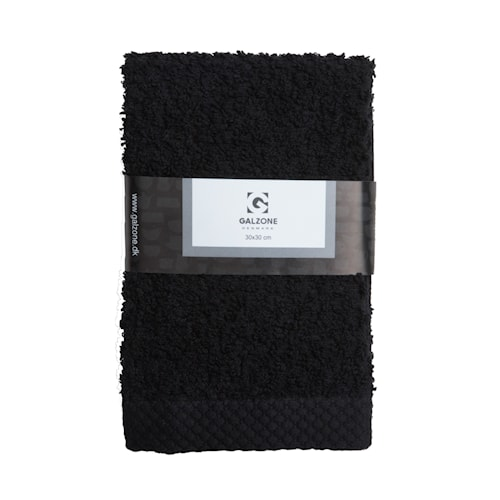 Håndduk 100% bomull Svart 30x30 cm