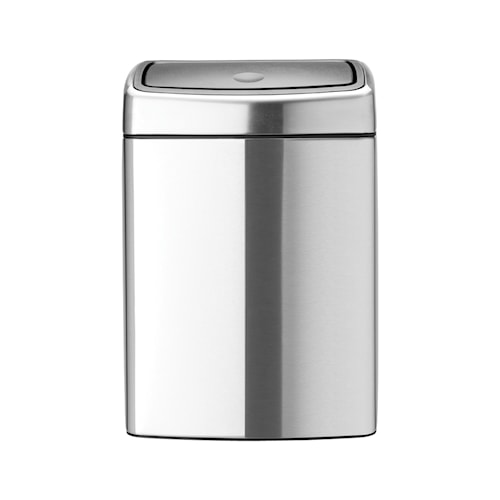 Touch Bin Rektangulær, plastinnerbøtte 10 L Mattbørstet Stål /F.P.P.