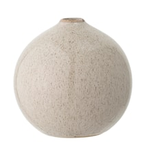 Vase Natur Steintøy 12x12 cm
