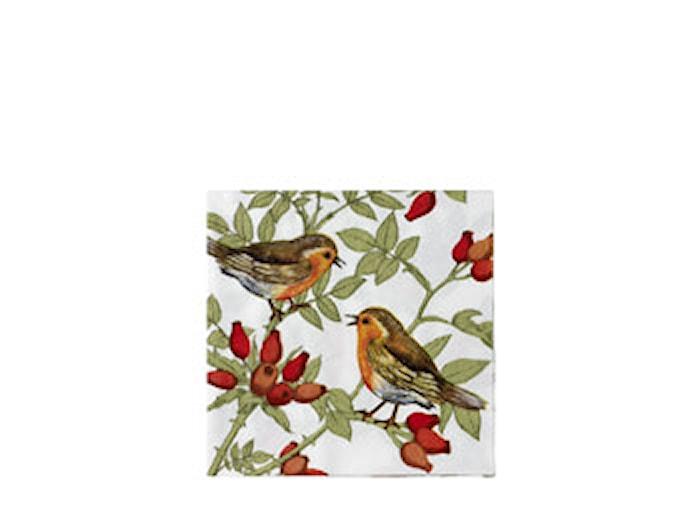 Pappersservett Fåglar 20st 33x33cm