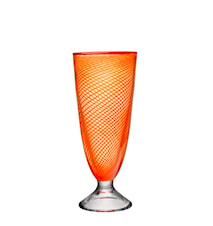 Red Rim Orange Vas 26cm