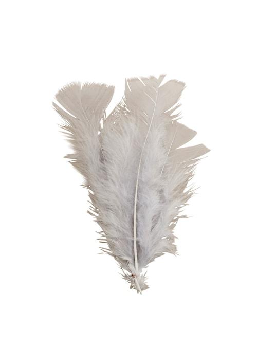 Fjäderdekoration 16 cm - Grå