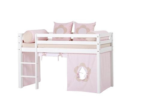 Basic loftsäng halvhög – Fairytale flower sängpaket, 70x160