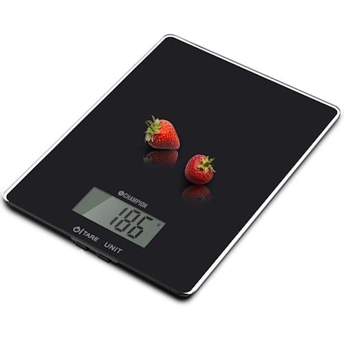 Kjøkkenvekt Glass 5 kg, Svart