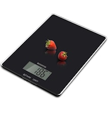 Keittiövaaka lasia 5 kg, musta