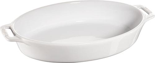 Oval form 29 cm hvid 2,3 L