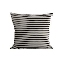 Putetrekk Stripe 50x50 cm - Svart/Grå