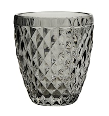 DIAMOND drinking glass/t-light, smoke