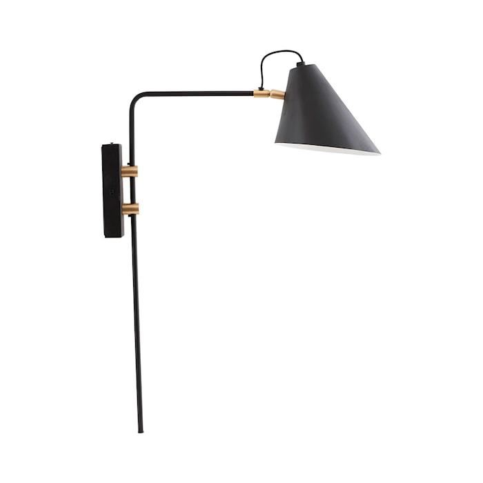 Club Vegglampe Svart/Hvit 18-20 cm