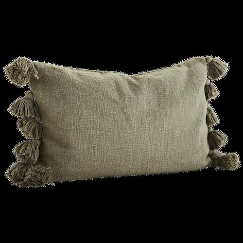 Kuddfodral Tassels 40x60 cm - Olive