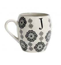 LETTER cup, J, black