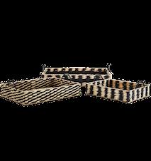 Rectangular wooden trays