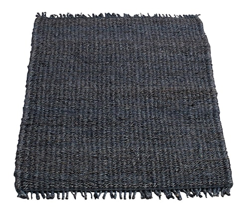 Dörrmatta Tan Mörkblå Jute 60x90 cm