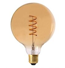 Elect Spiral LED Fil Globe Gold 125mm
