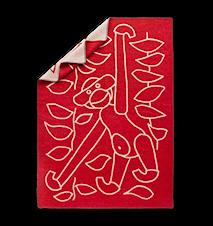Tæppe, rød
