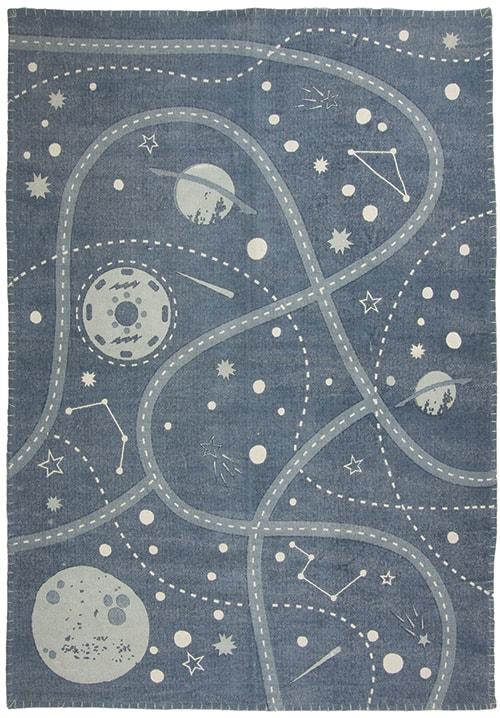 Little Galaxy Matta Blå 100x140 cm