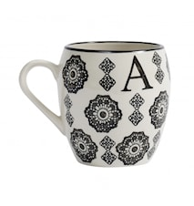 LETTER cup, A, black