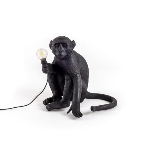 Monkey Lamp Outdoor Sitting - Svart