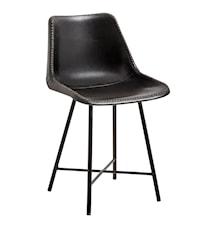Nordal läderstol - svart