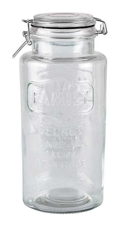 Förvaringsskål med lock Glas 13x28,5 cm/2,7 Liter