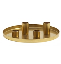 Lysfat Golden Tray Small