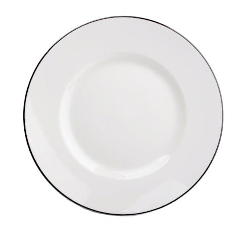 Assiett Zebra- Hvid