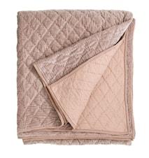 Sängöverkast Quilted 220x270 cm Rosa