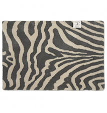 Dörrmatta Zebra Titanium/Vit 60x90 cm