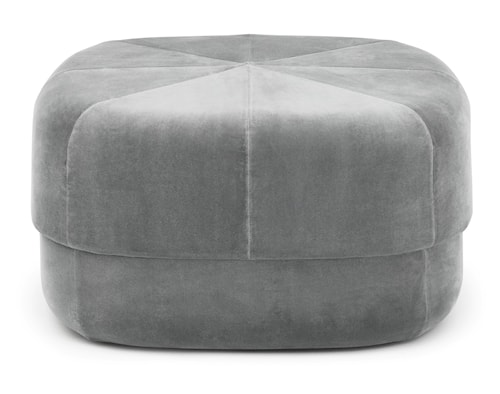 Circus pouf sittpuff velour large - Grey