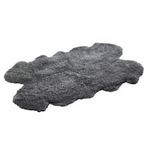Maori Quartetto Långhårig lammskinnsfäll 120x180 cm - Grey
