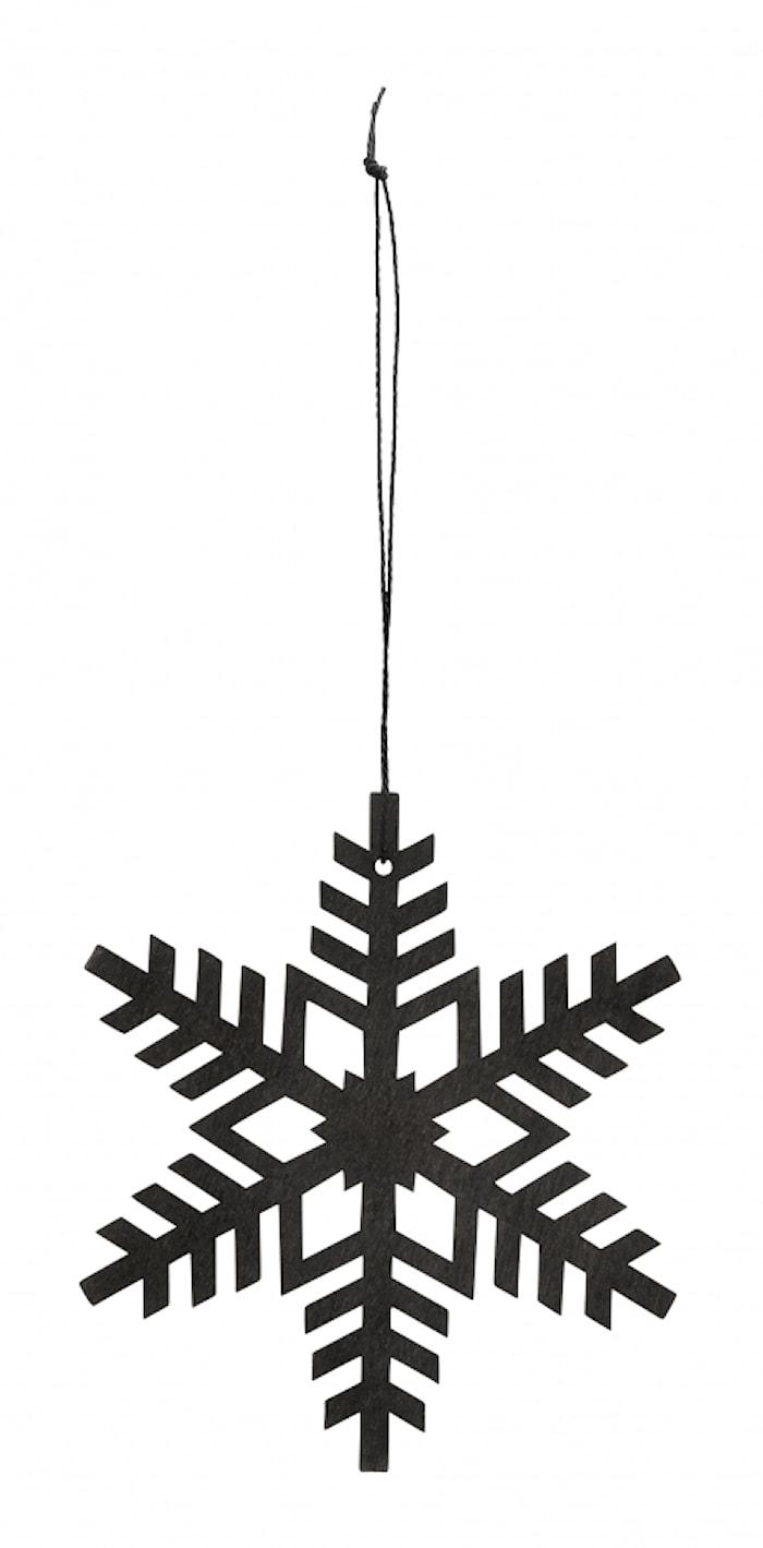 Juledekoration, snefnug, sort