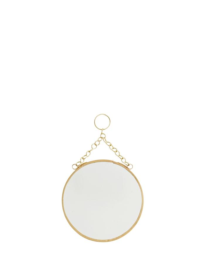 Rund spegel Ø 15 cm Mässing