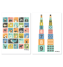 Paket ABC & numbers posters