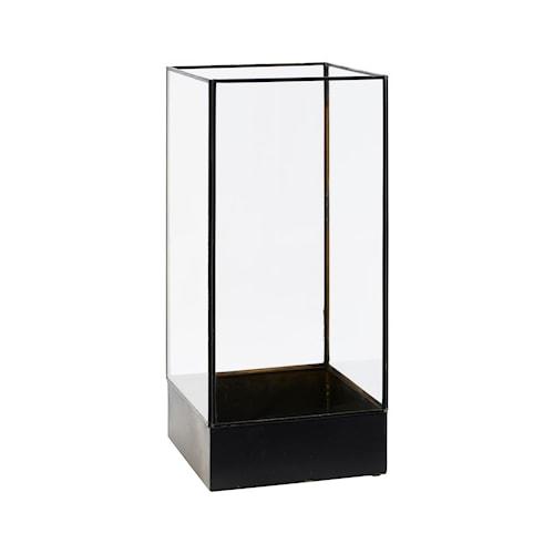 Display box, Plant, Sort antik ,l: 21 cm, w: 21 cm, h: 45 cm