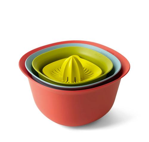Set om 4 Bunkar inkl Juicepress Mix färger