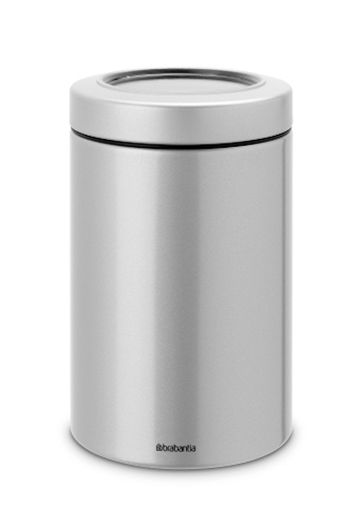 Opbevaringsbeholder med vindue 1.4 Ltr Metallic Grey