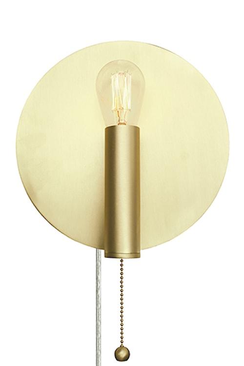 Vägglampa Art Deco Borstad Mässing