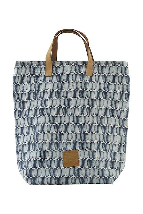 Shopping bag, Braid, Blue, 41x38 cm