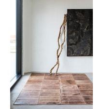 Leather Dark brown Matta - 160x240