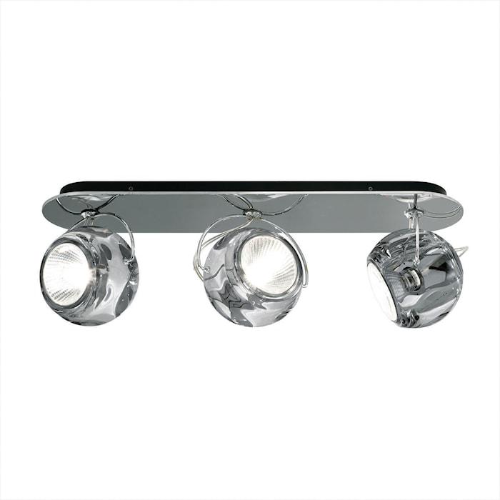 Beluga 3 vegg/taklampe – Crystal