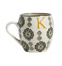 LETTER cup, K