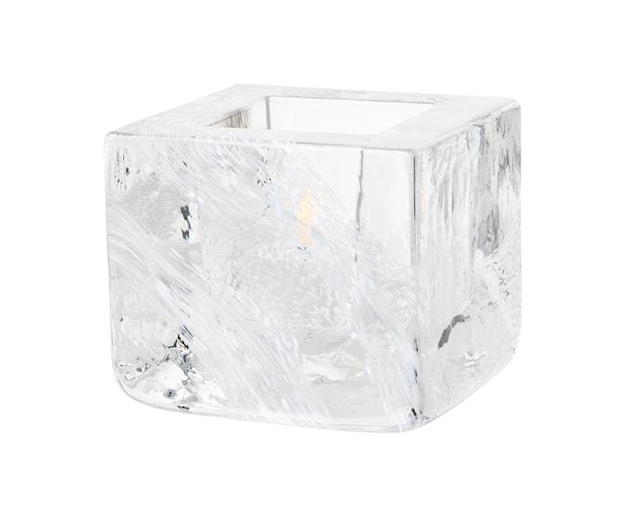 Brick Lysestage Hvid Ø 8,5 cm