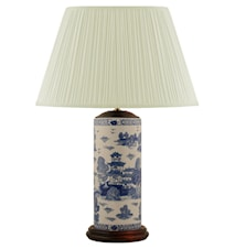 Lampfot 32cm Penmodell Blåvit Mönster