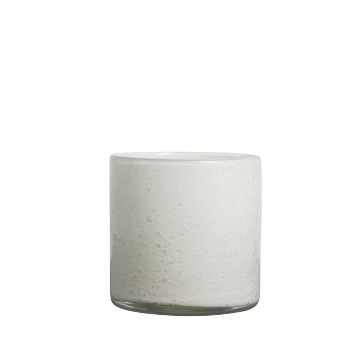 Vase/Fyrfadsholder Calore Hvid h: 12 cm