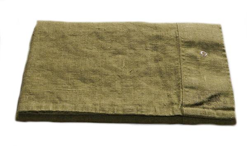 Lovely linen putetrekk – Jeep green, 50x60