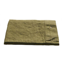 Lovely linen putetrekk – Jeep green
