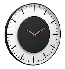 Wall clock, train station, black circle