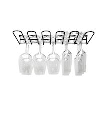 Hahn Glashängare 5 rader svart
