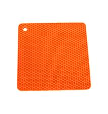 Grytelapp Silicon Firkant Oransje